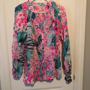 Lilly Pulitzer button front Elsa size medium